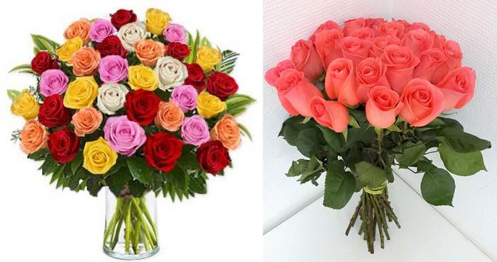 Розы в букетах по 25 шт