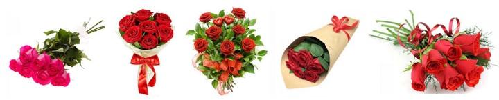 Варианты оформления семи роз