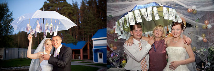 Зонтики с деньгами