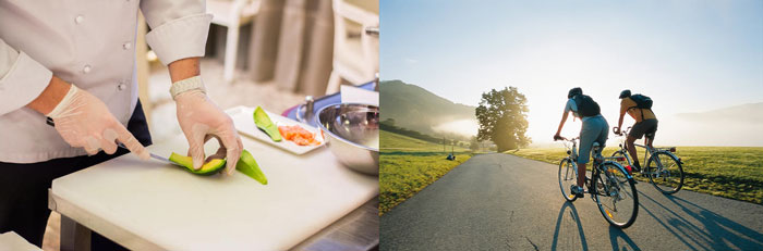 Урок кулинарии и прогулка на велосипедах