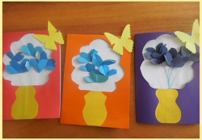 Открытки с вазой и бабочкой