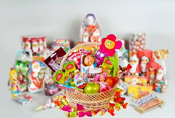 Новогодние сладкие подарки для детей