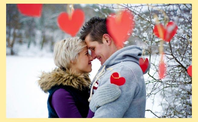 Влюбленные и валентинки