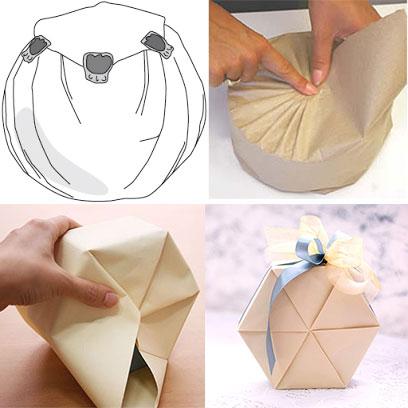 Способы упаковать подарок круглой формы