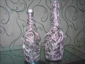 Ваза-бутылка своими руками