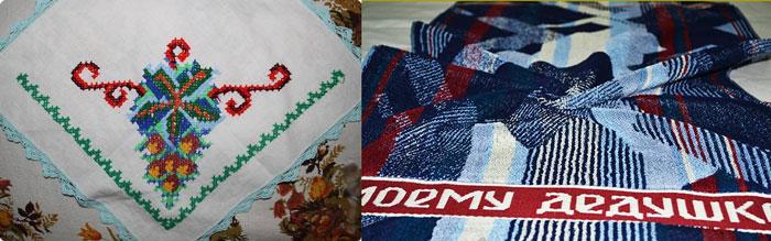 Вышивка на платках и полотенцах
