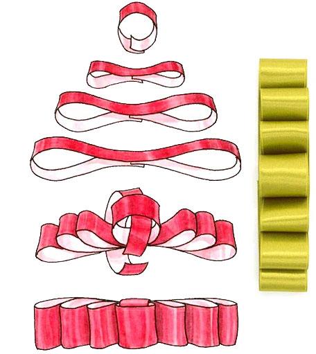 Схема сбора банта диор