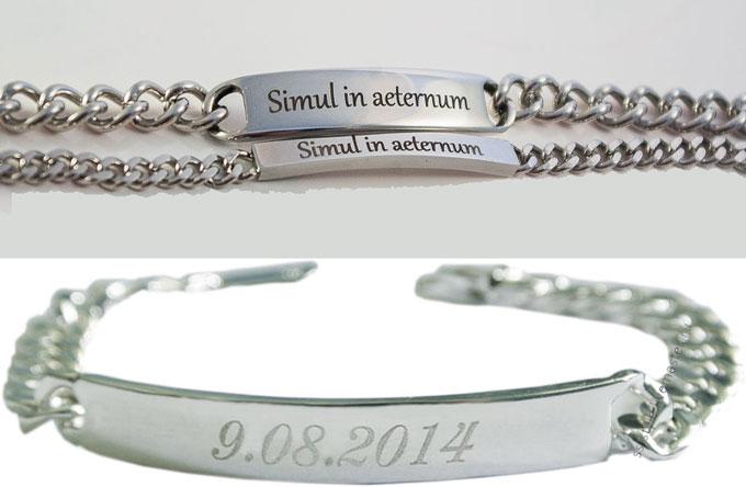 Серебрянные браслеты с гравировкой