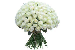 Букет из белых роз в подарок