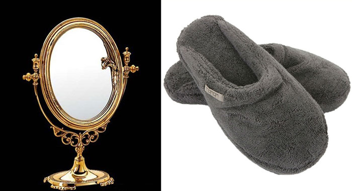 Тапочки и зеркало