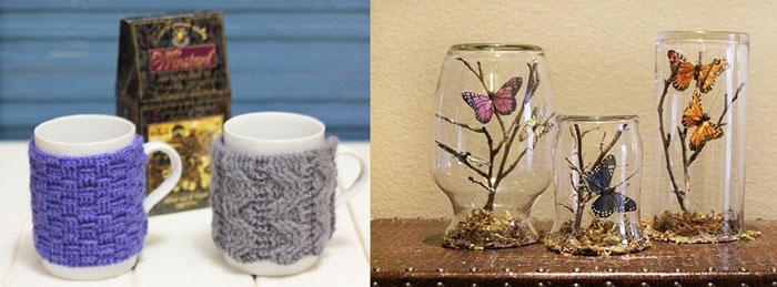Чехлы для кружек и декорированные стаканы