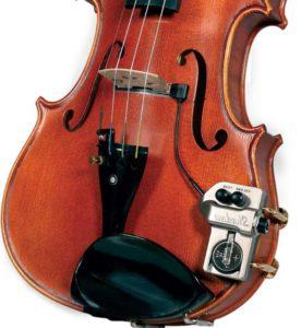 Звукосниматель с датчиком на скрипке