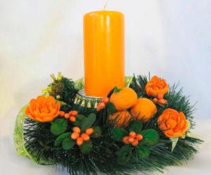 Декорация рождественской свечи
