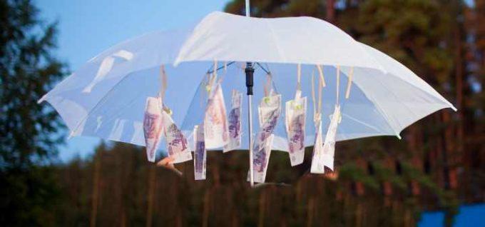 поздравление на свадьбу с помощью зонта