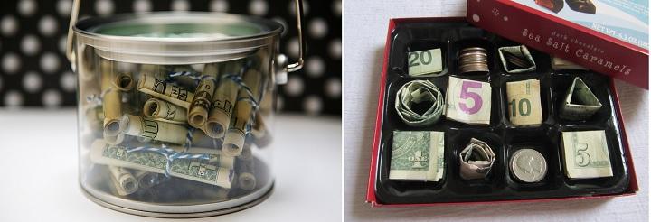 Упаковать оригинально деньги