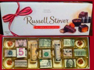 конфет нет, есть деньги в конфетной коробке