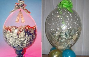 два варианта денег в шарах