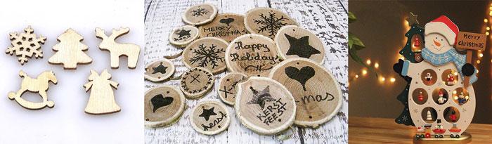 Рождественские подарки из дерева