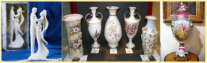 Фарфоровые вазы и сувениры