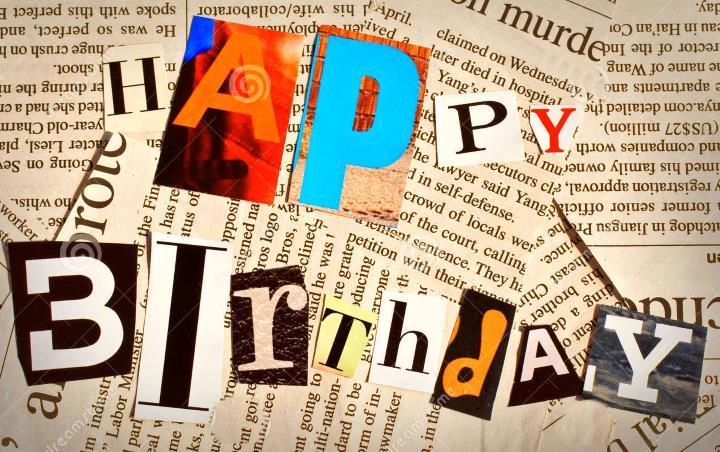 Оформляем газету на день рожденья