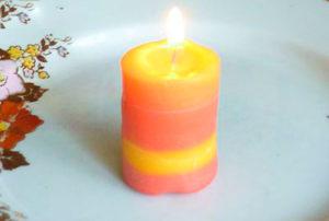 Готовая свеча своими руками