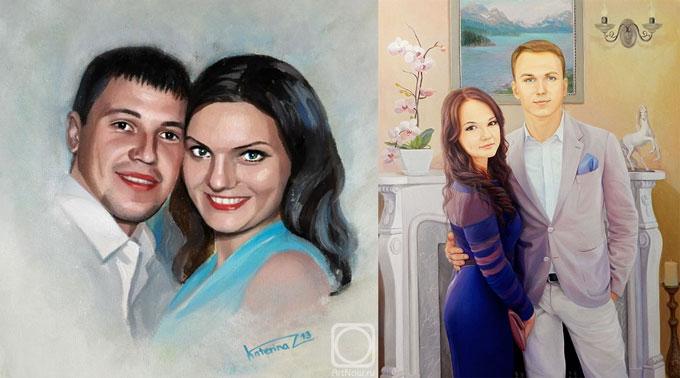 Портреты с фото пары
