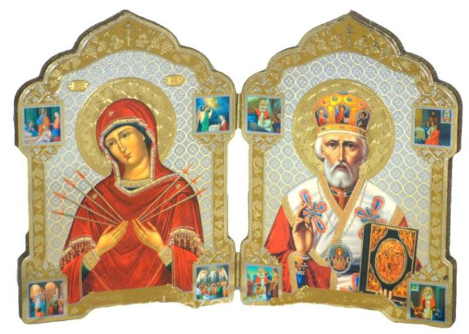 Двойная икона на юбилей свадьбы