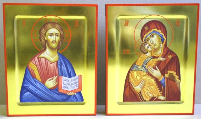 две иконы на венчание в подарок