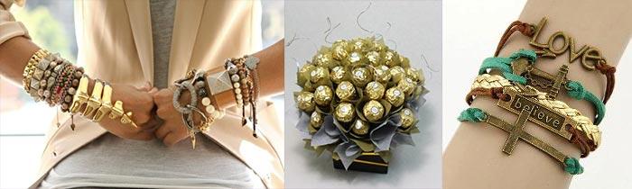 Букет из конфет и браслеты