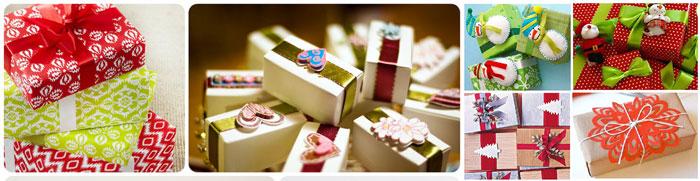 Упакованные подарки с украшениями