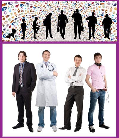 Мужчины разные по возрасту и профессии