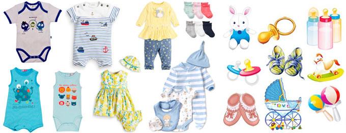 Одежда и игрушки малыша