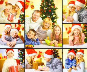 Рождественский коллаж из фото