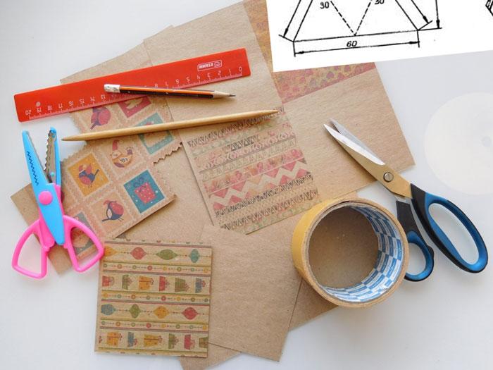 Материалы для изготовления коробочки