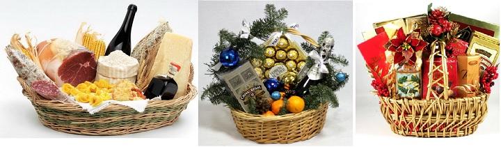 Корзина подарков на новый год