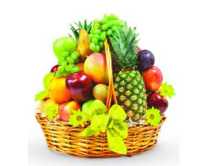 Корзина, полная фруктов