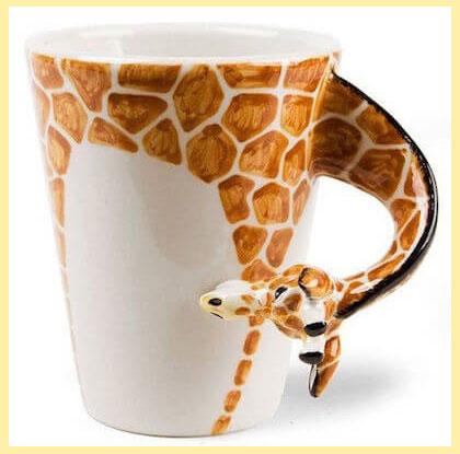Куржка с ручкой жирафом