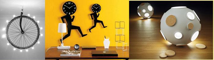 Креативные часы и светильники
