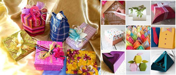 Разновидности оригинальных подарочных упаковок