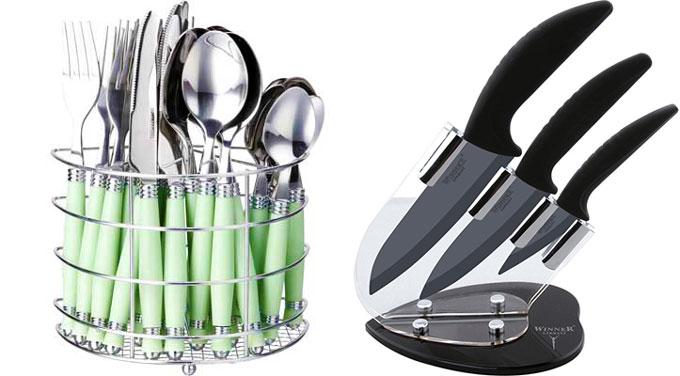 Необычный набор ноже и столовые приборы