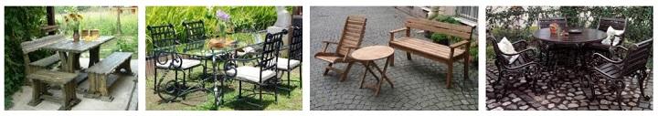 Мебель из разных материалов для дачи