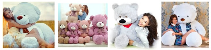 Огромные медведи для девушек