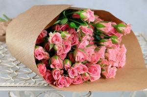 Маленькие розовые розочки