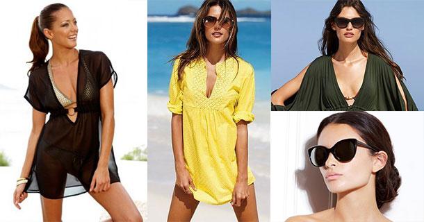 Пляжные туники и солнцезащитные очки