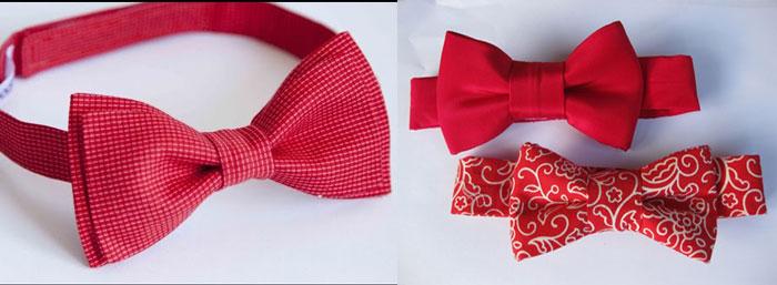 Самодельные галстук-бабочка