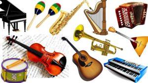 коллаж музинструментов