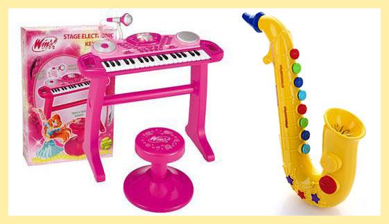 Детские синтезатор и саксафон
