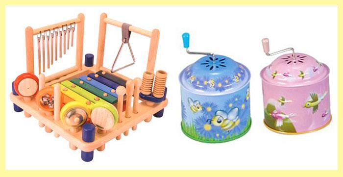 Детские шарманки и музыкальный набор