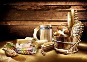 Разные подарочные предметы для использования в бане