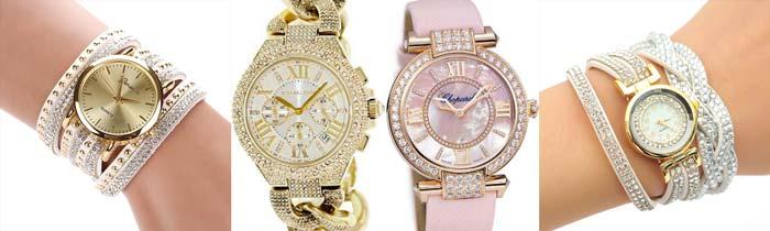 Женские часы с браслетом и без